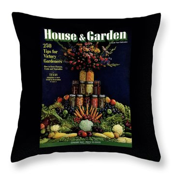 House And Garden Cover Featuring Fruit Throw Pillow