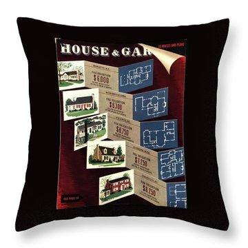 House And Garden Cover Featuring Houses Throw Pillow