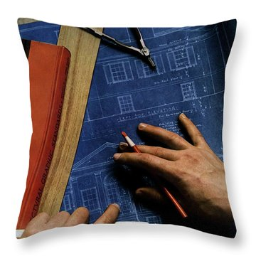 House And Garden Cover Of A Person Throw Pillow