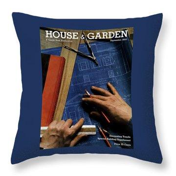 House And Garden Cover Of A Person Throw Pillow
