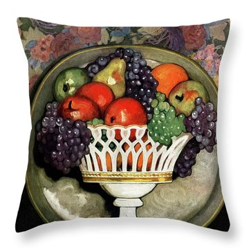 House And Garden Fall Planting Number Cover Throw Pillow