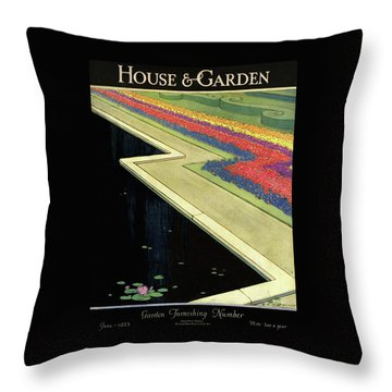 House And Garden Furnishing Number Throw Pillow