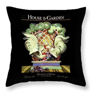 House And Garden Furniture Number Throw Pillow
