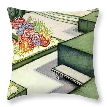 House And Garden Garden Furnishings Number Cover Throw Pillow