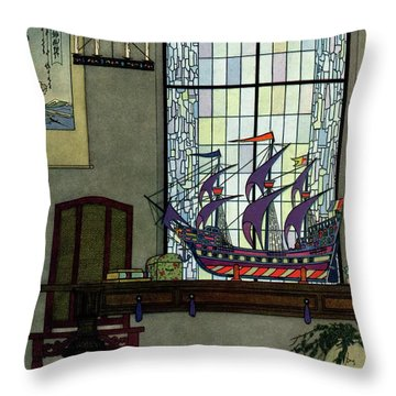 House And Garden Throw Pillow