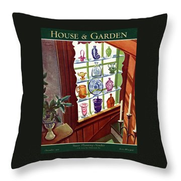 House And Garden House Planning Number Cover Throw Pillow