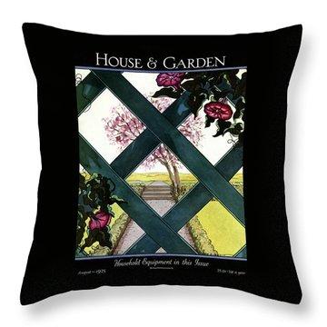 House And Garden Household Equipment Throw Pillow