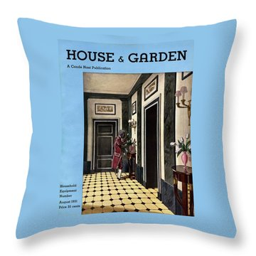 House And Garden Household Equipment Number Throw Pillow