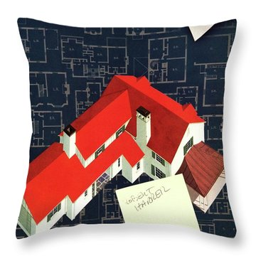 House And Garden Houses With Plans Cover Throw Pillow