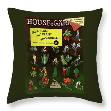 House And Garden How To Plan And Plant Throw Pillow
