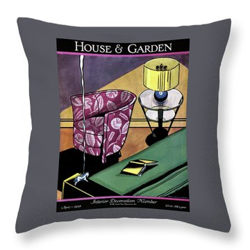 House And Garden Interior Decorating Number Throw Pillow