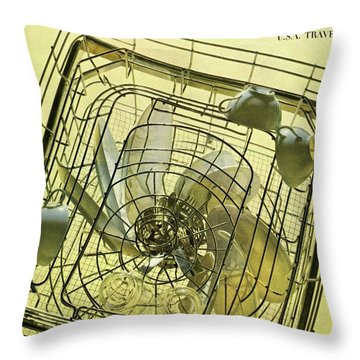 House And Garden Servant Less Living Houses Cover Throw Pillow