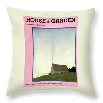 House And Garden Small House Number Cover Throw Pillow