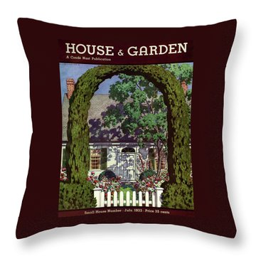 House And Garden Small House Number Throw Pillow