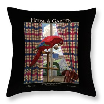 House And Garden Spring Furnishing Number Cover Throw Pillow