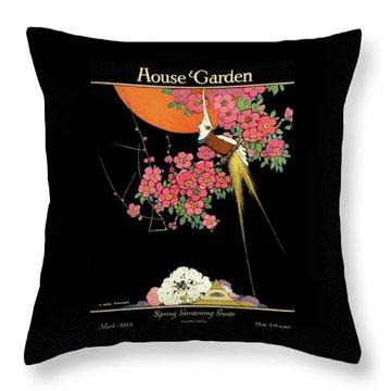 House And Garden Spring Gardening Guide Throw Pillow