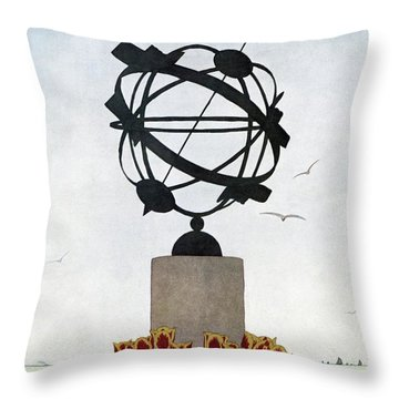 House And Garden Summer Furnishings Number Throw Pillow