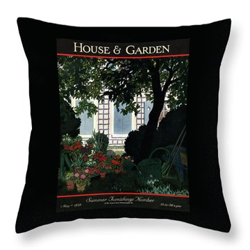House And Garden Summer Furnishings Number Cover Throw Pillow