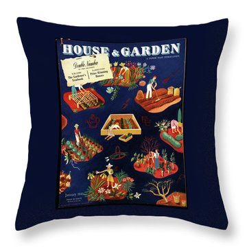 House And Garden The Gardener's Yearbook Cover Throw Pillow