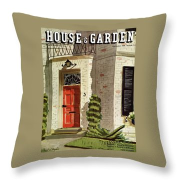 House And Garden Trends In Decorating Cover Throw Pillow
