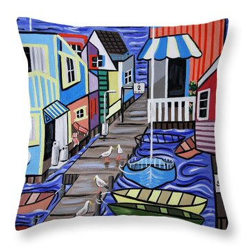 House Boats For Sale Throw Pillow by Anthony Falbo