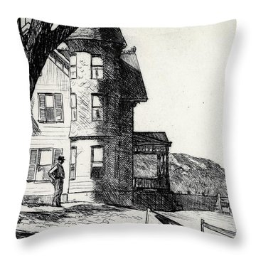 House By A River Throw Pillow by Edward Hopper