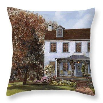 house Du Portail  Throw Pillow by Guido Borelli