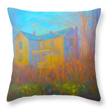 House In Blacksburg Throw Pillow