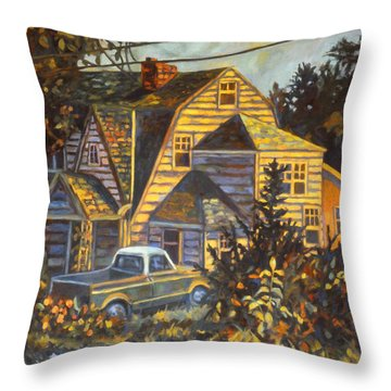 House In Christiansburg Throw Pillow