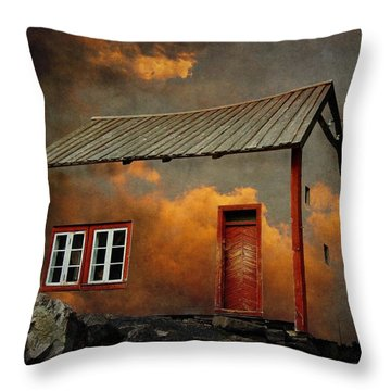 House In The Clouds Throw Pillow by Sonya Kanelstrand