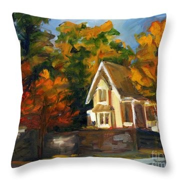 House In The Sun Throw Pillow by Jessica Cummings
