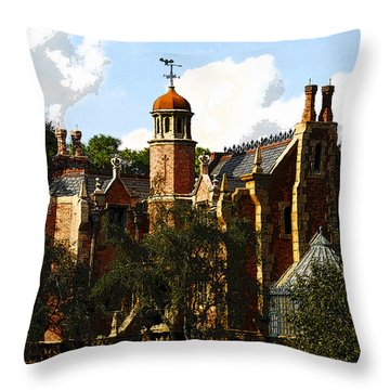 House Of 999 Ghosts Throw Pillow by David Lee Thompson