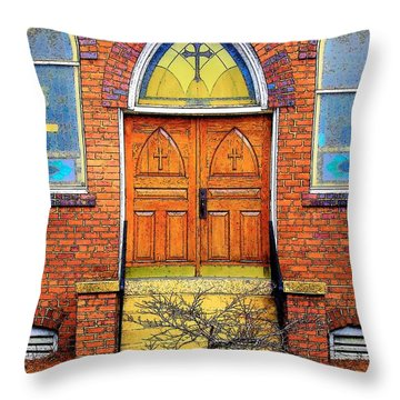 House Of God Throw Pillow by Rodney Lee Williams