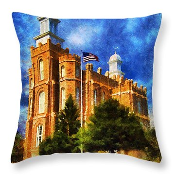 House Of Learning Throw Pillow by Greg Collins