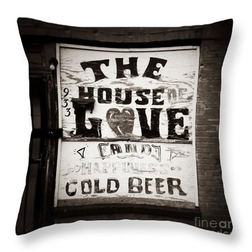 House Of Love Memphis Tennessee Throw Pillow