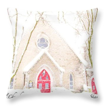 Throw Pillow featuring the photograph O Come All Ye Faithful by Margie Amberge