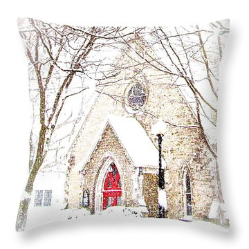 House Of Mracles Throw Pillow by Margie Amberge