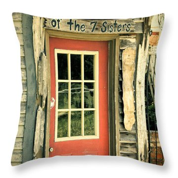House Of The Seven Sisters Throw Pillow