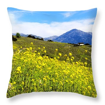 House On The Hill Throw Pillow by Camille Lopez