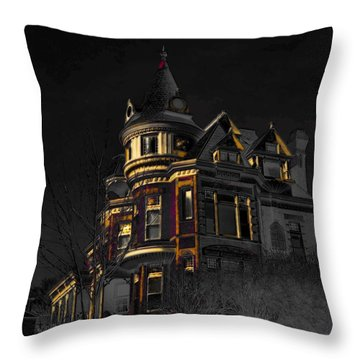 House On The Hill Throw Pillow by Liane Wright