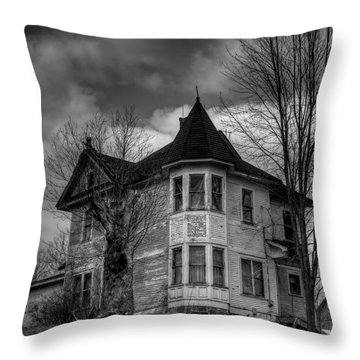 House On The Hill Throw Pillow by Thomas Young