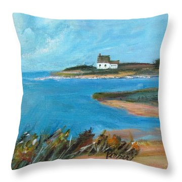 House On The Point Throw Pillow