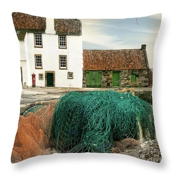 House On The Quay Throw Pillow by Edmund Nagele