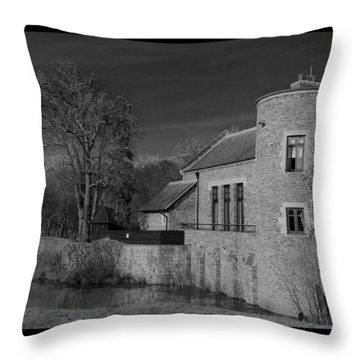 House On The River Throw Pillow by Maj Seda