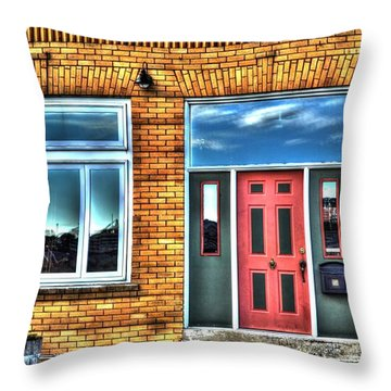 House Reflections Throw Pillow by Aliceann Carlton