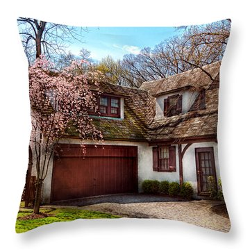 House - Westfield Nj - Who Doesn't Love Spring  Throw Pillow by Mike Savad