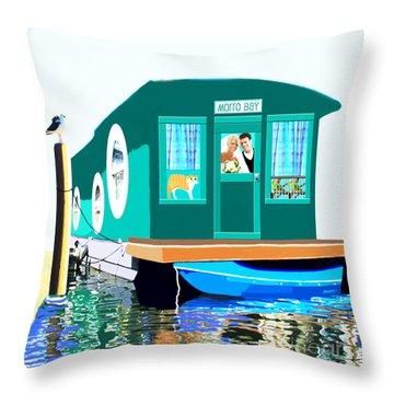 Houseboat Throw Pillow