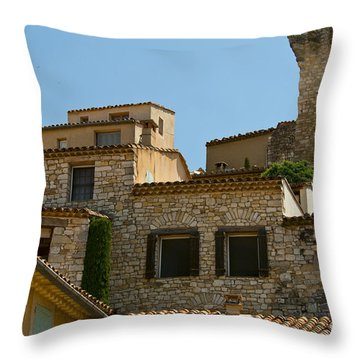 Houses At The Top Of The Hill Throw Pillow by Bob Phillips