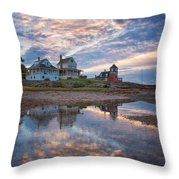 Houses By The Cribstone Throw Pillow