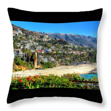 Houses By The Sea Throw Pillow